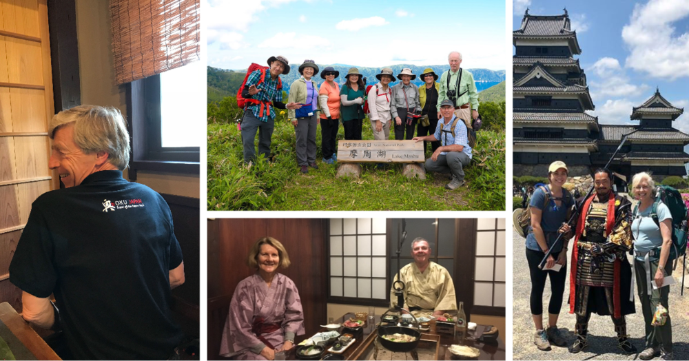 Past clients enjoying Japan's nature and culture