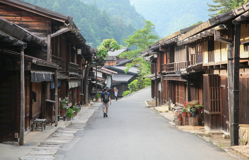 Walking through a Nakasendo post town