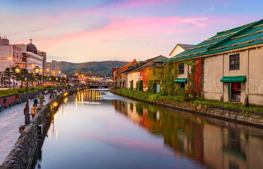 Otaru's famous canal