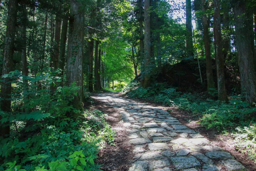 Stone path on the Nakasendo Trail