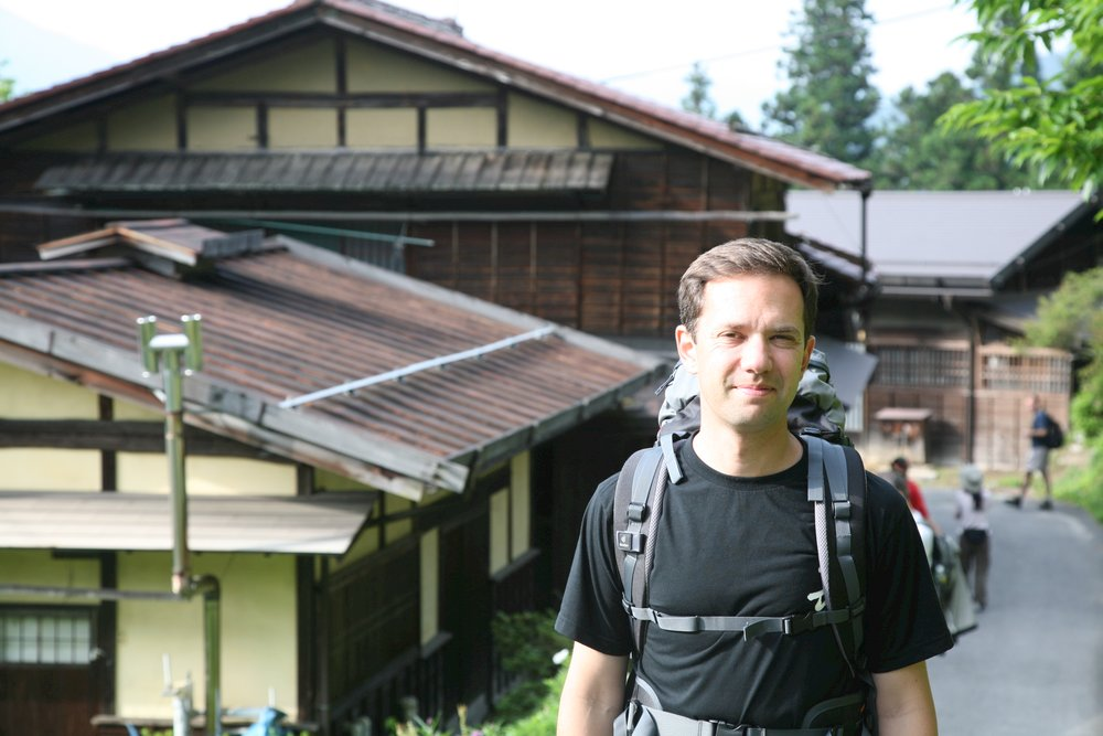 Matt travelling on the Nakasendo