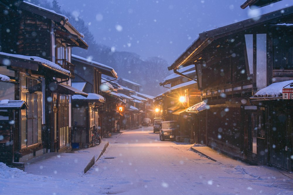 Narai blanketed in snow